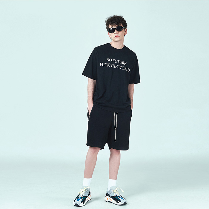 [데드엔드]BLACK DRAWSTRING SHORT PANTS