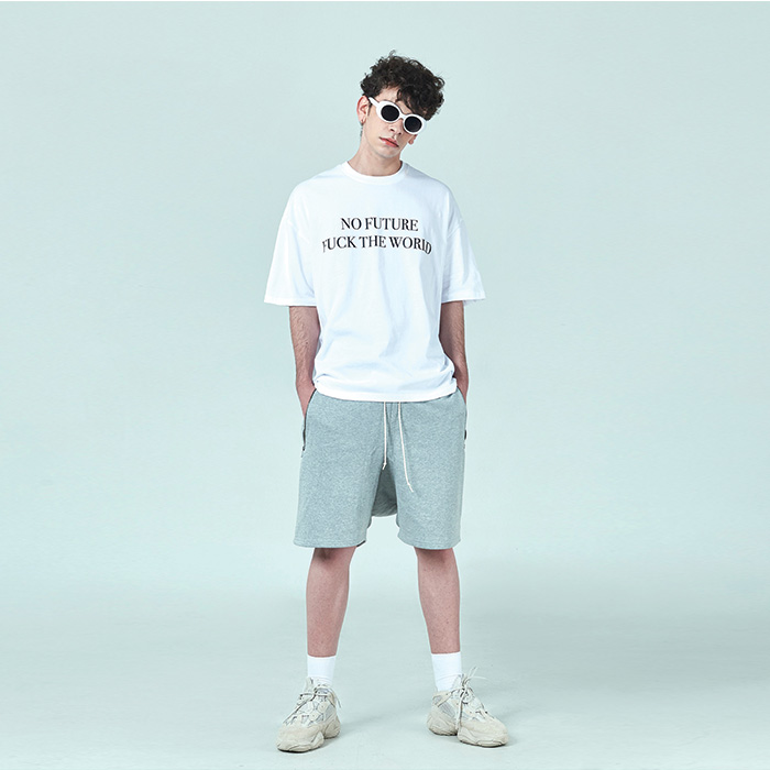[데드엔드]GREY DRAWSTRING SHORT PANTS
