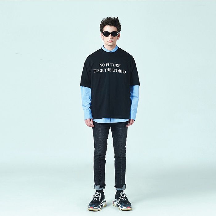[데드엔드] BLACK NO FUTURE T-SHIRTS