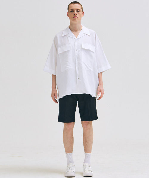 [에드]PINTUCK SHORTS BLACK