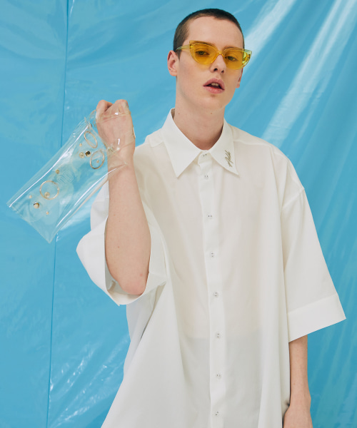 [에드]AVANTGARDE SHORT SLEEVE SHIRTS WHITE