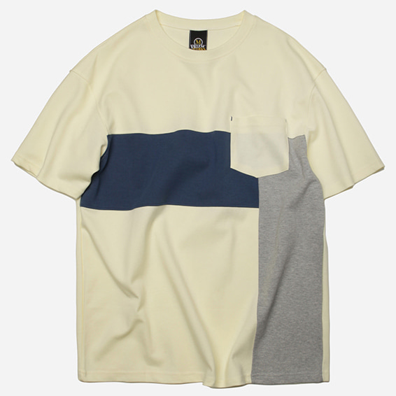 [프리즘웍스]Saturation block tee _ pastel yellow