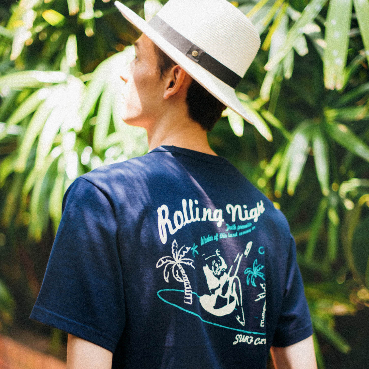 [콘보이] SURF Club 1/2 tee navy