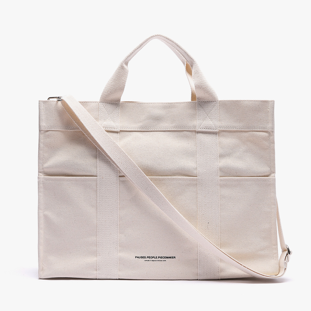 [피스메이커]CANVAS 3WAY POCKET BAG (WHITE)