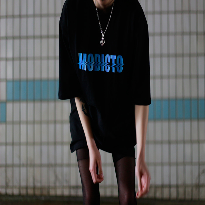 [모딕토]Motion Logo T-Shirt_Black