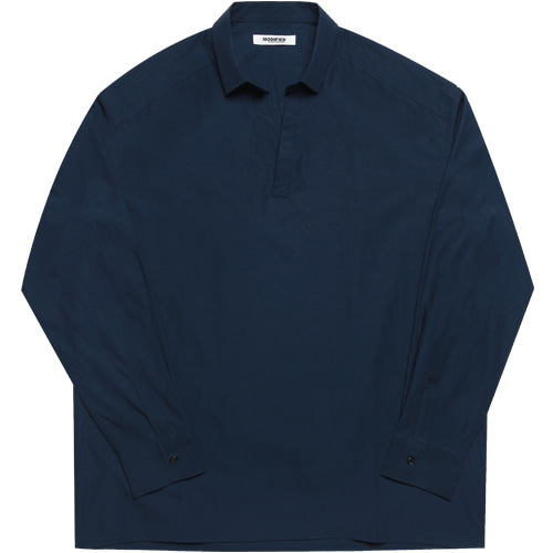 [모디파이드]M#1605 collor tunic shirts (navy)