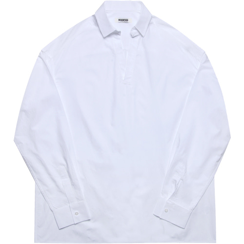 [모디파이드]M#1606 collor tunic shirts (white)