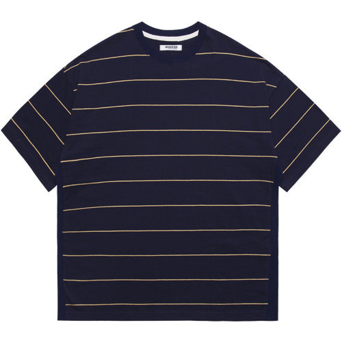 [모디파이드]M#1607 body rib stripe tee (navy)
