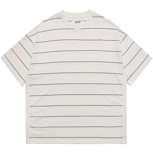 [모디파이드]M#1608 body rib stripe tee (ivory)