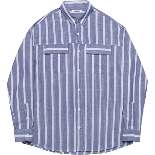 [모디파이드]M#1609 two pocket daily shirts (stripe)