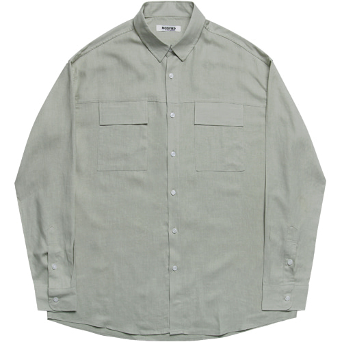 [모디파이드] M#1610 two pocket daily shirts (green)