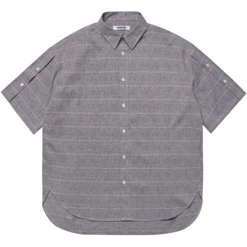 [모디파이드] M#1614 open sleeve over shirt (grey)