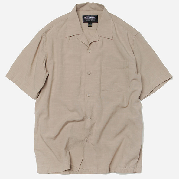 [프리즘웍스]Feature open collar shirt _ beige