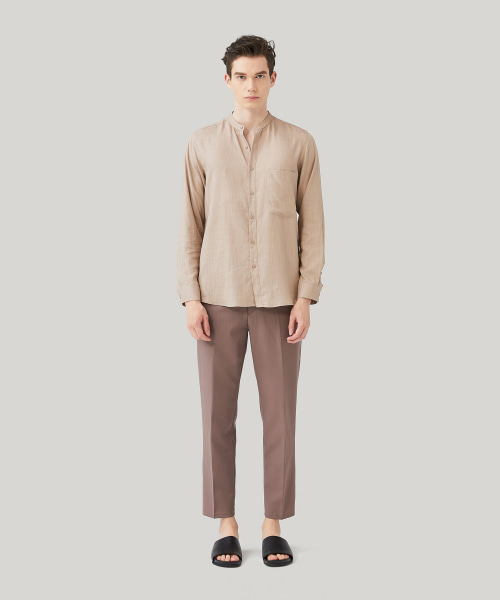 [모노소잉]COLOR WOOL TROUSER(PINK BEIGE)