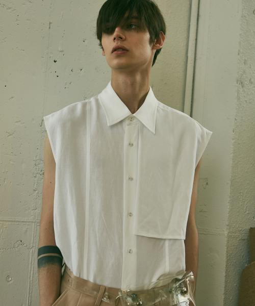 [에드]ADD SLEEVELESS SHIRTS WHITE