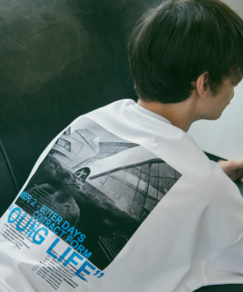 [에드]YOUNG LIFE T SHIRTS WHITE