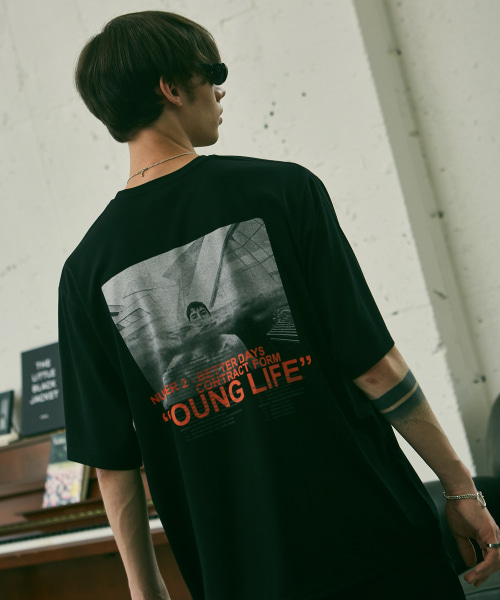 [에드]YOUNG LIFE T SHIRTS BLACK