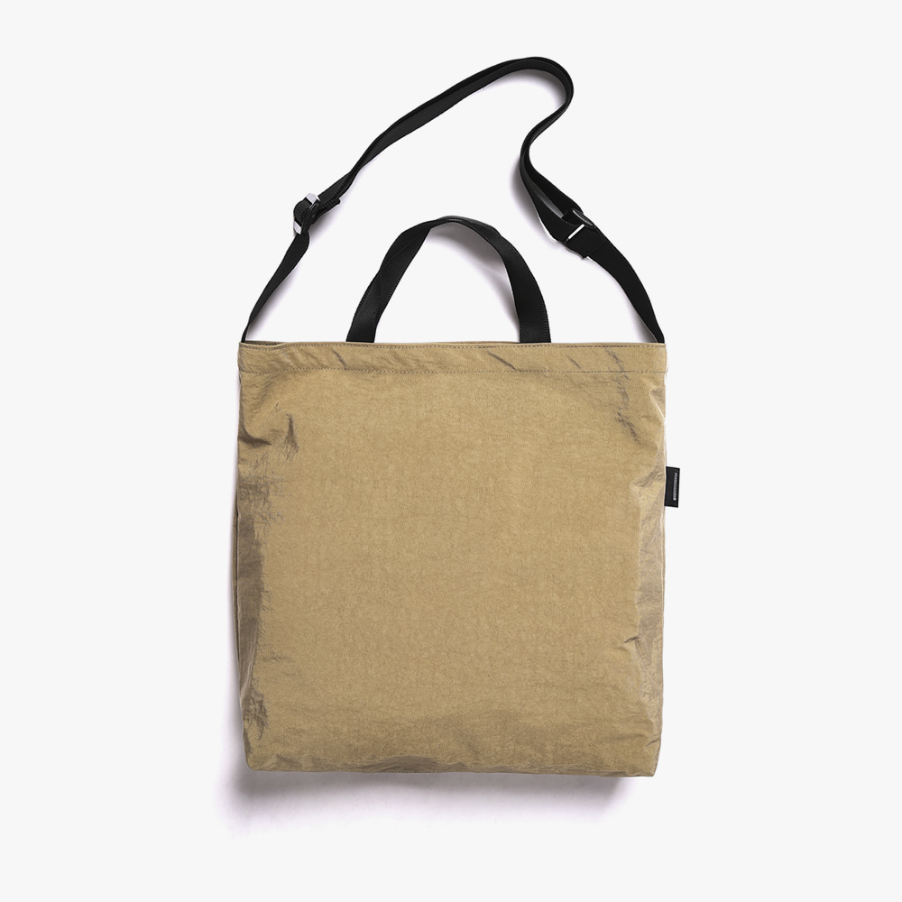 [피스메이커]SHIRRING NYLON 3WAY BAG (BEIGE)