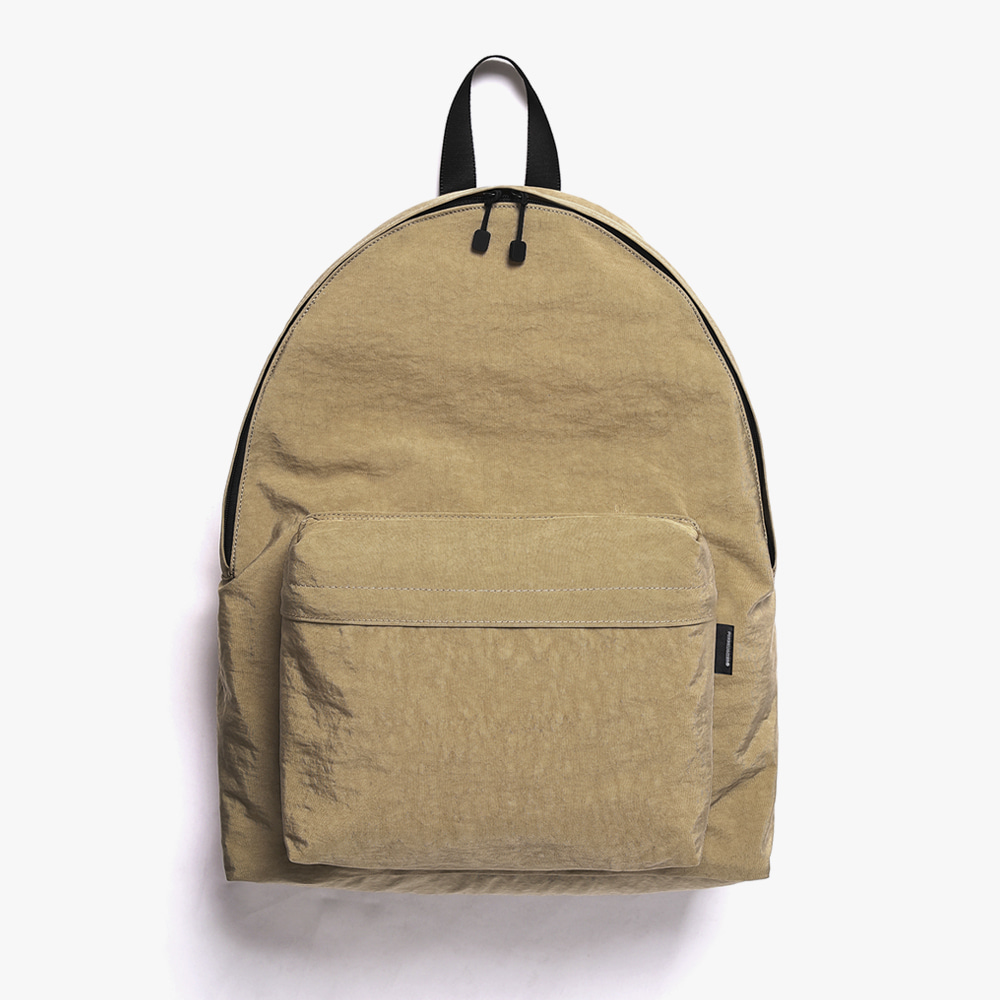 [피스메이커]SHIRRING NYLON BACKPACK (BEIGE)