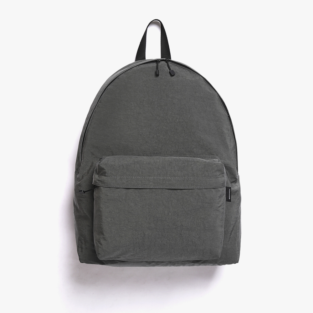 [피스메이커]SHIRRING NYLON BACKPACK (CHARCOAL)