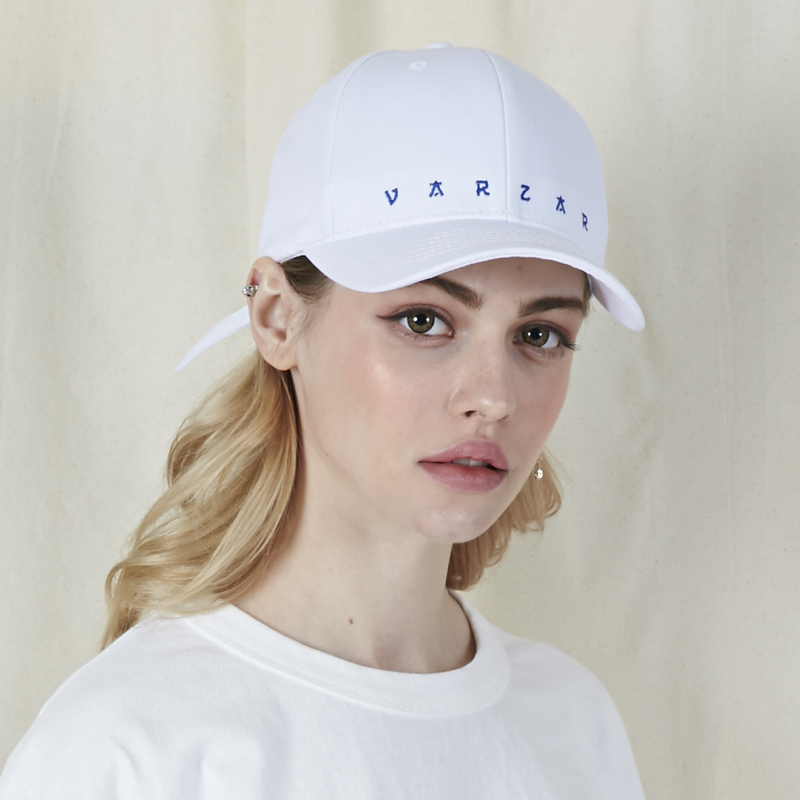 [바잘]   VARZAR embroidery ball cap white