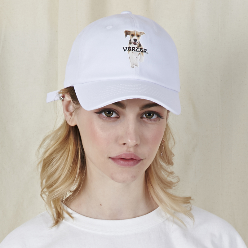 [바잘]   Dog printing ballcap white
