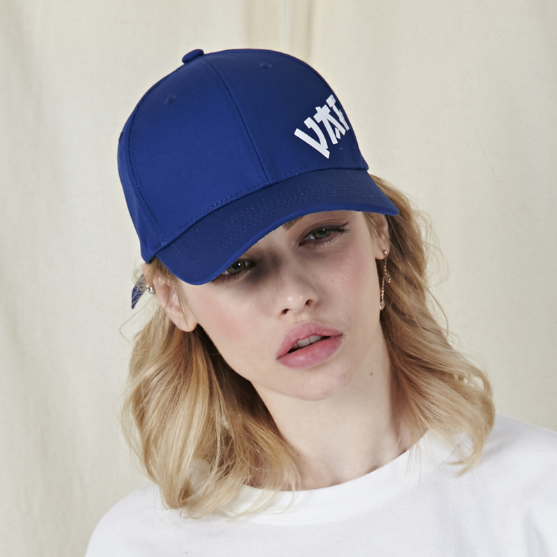[바잘]   Side view point ball cap navy