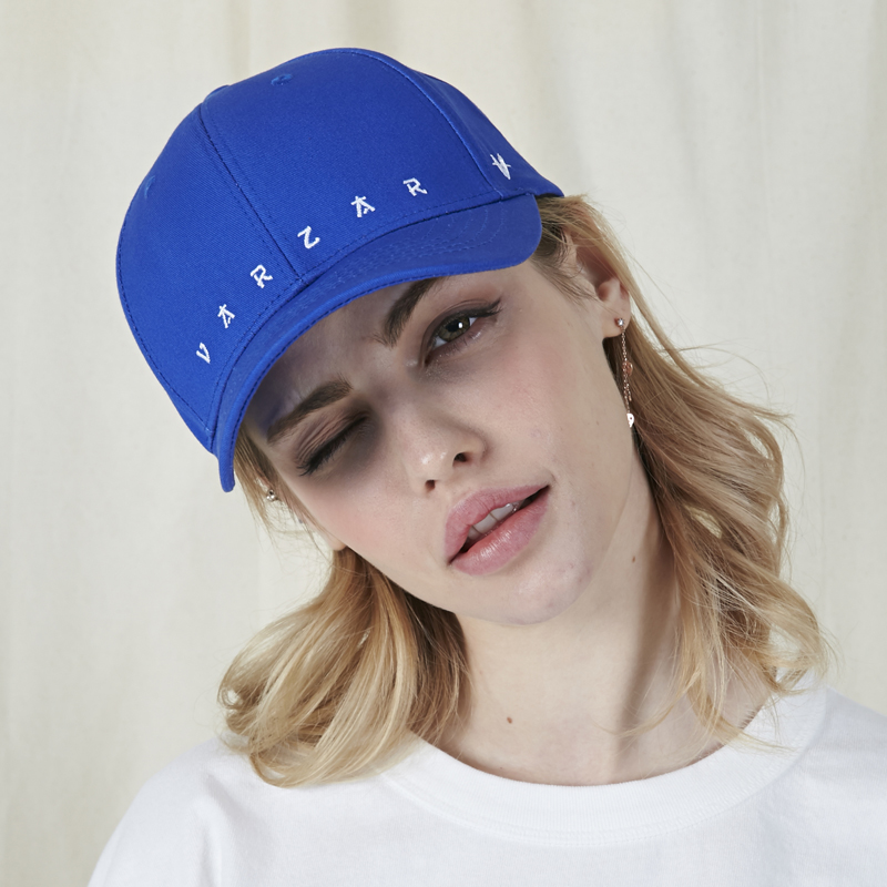 [바잘]   VARZAR embroidery ball cap blue