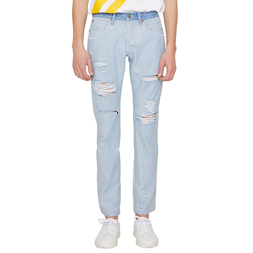 [랩 101]LI1DJO22LB JOHN LIGHT BLUE INSIDE OUT DIS. DENIM