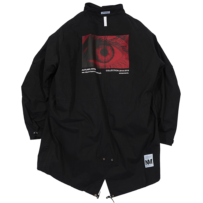 [노매뉴얼]EYE GRAPHIC M-65 FISHTAIL PARKA - BLACK