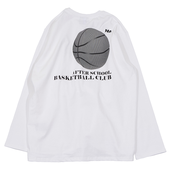 [노매뉴얼]BASKETBALL CLUB LONG SLEEVE TEE - WHITE