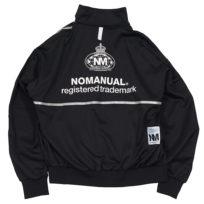 [노매뉴얼]NM EMBLEM JERSEY TRAINING JACKET - BLACK
