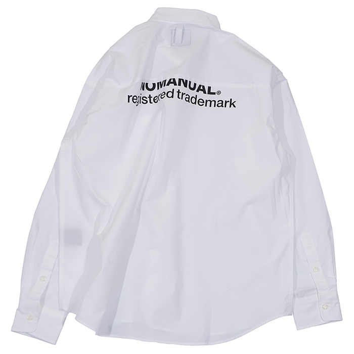 [노매뉴얼]TM LOGO OVERSIZED SHIRT - WHITE