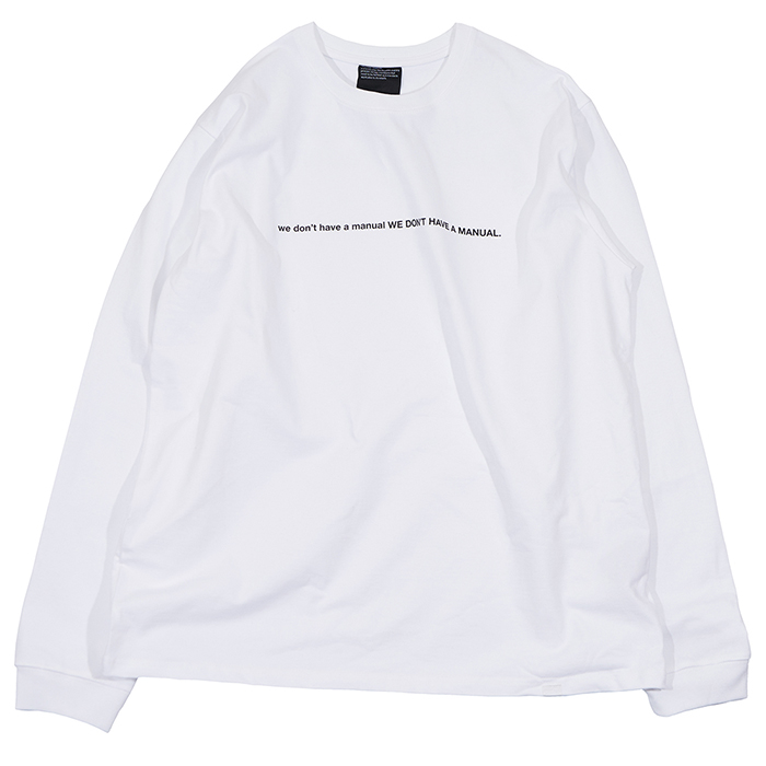 [노매뉴얼]NM SLOGAN LONG SLEEVE TEE - WHITE