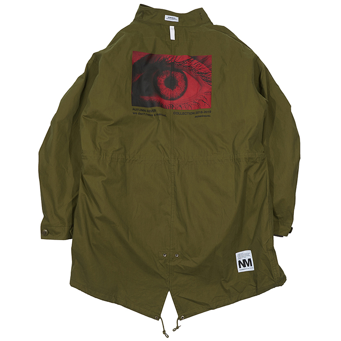 [노매뉴얼]EYE GRAPHIC M-65 FISHTAIL PARKA - KHAKI