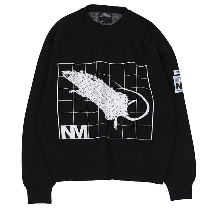 [노매뉴얼]NM JACQUARD COTTON KNIT - BLACK