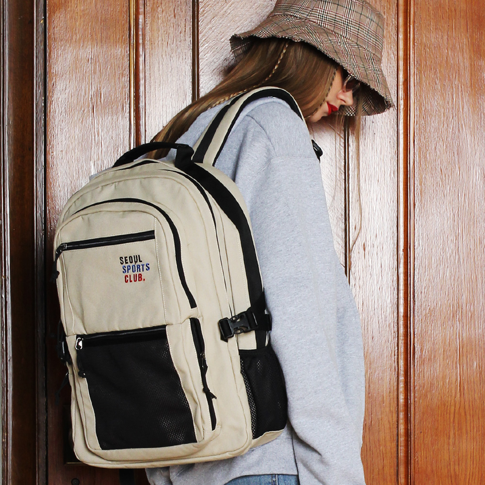 [피스메이커]SSC SQUARE BACKPACK (BEIGE)