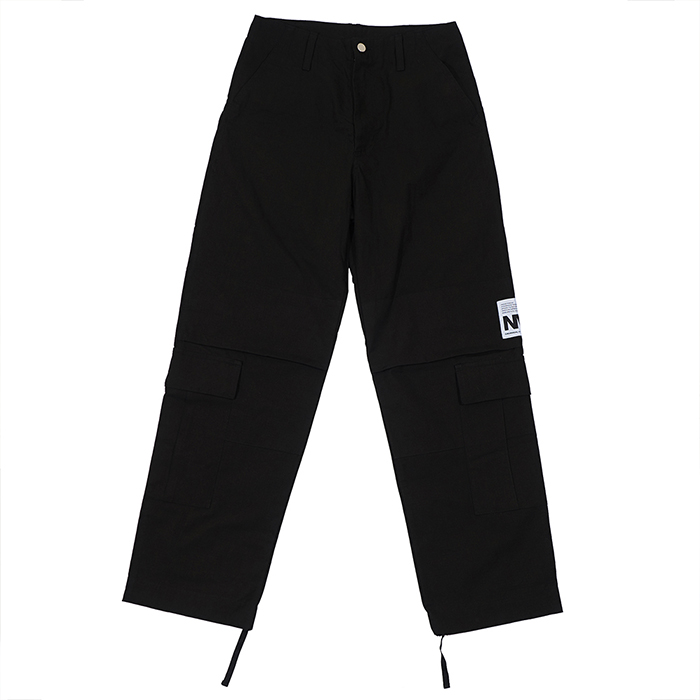 [노매뉴얼]NM RIB CARGO PANTS - BLACK