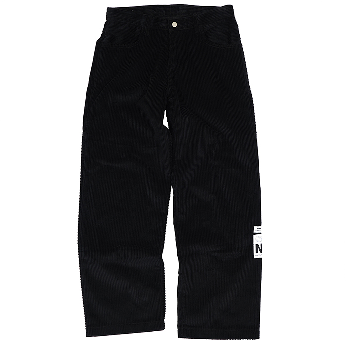 [노매뉴얼]NM HEAVY CORDUROY PANTS - BLACK