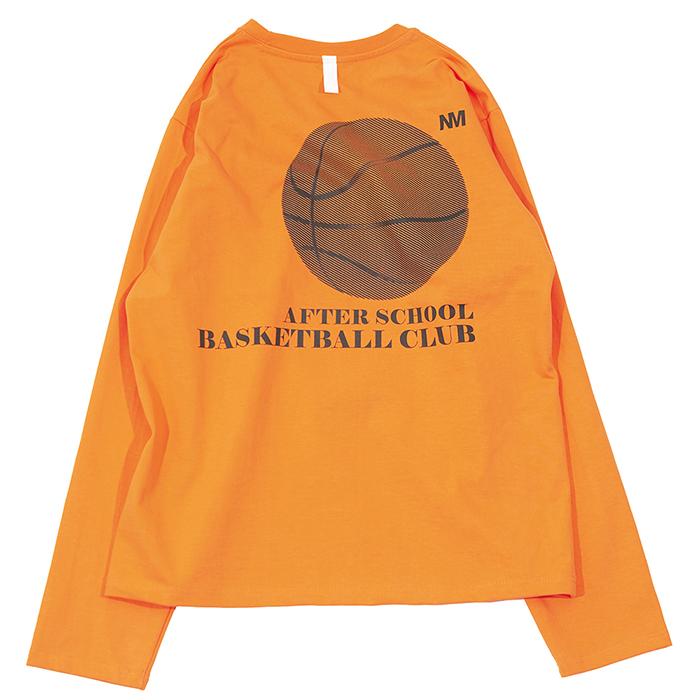 [노매뉴얼]BASKETBALL CLUB LONG SLEEVE TEE - ORANGE