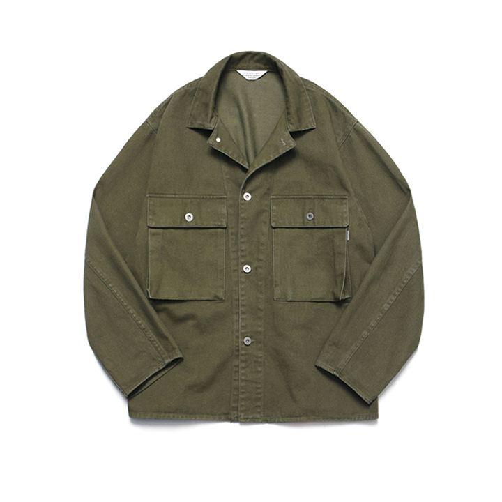[라퍼지스토어]Wide Twill Trucker Jacket_Khaki