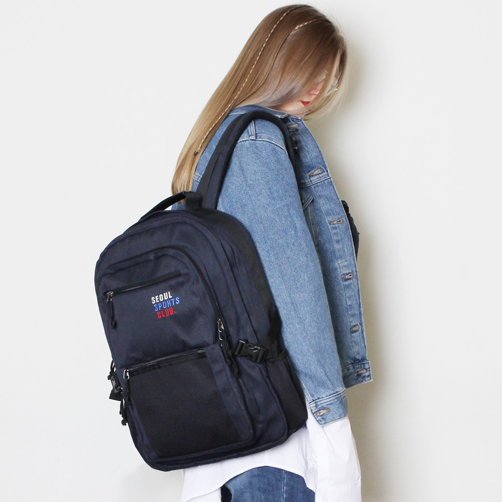 [피스메이커]SSC SQUARE BACKPACK (NAVY)