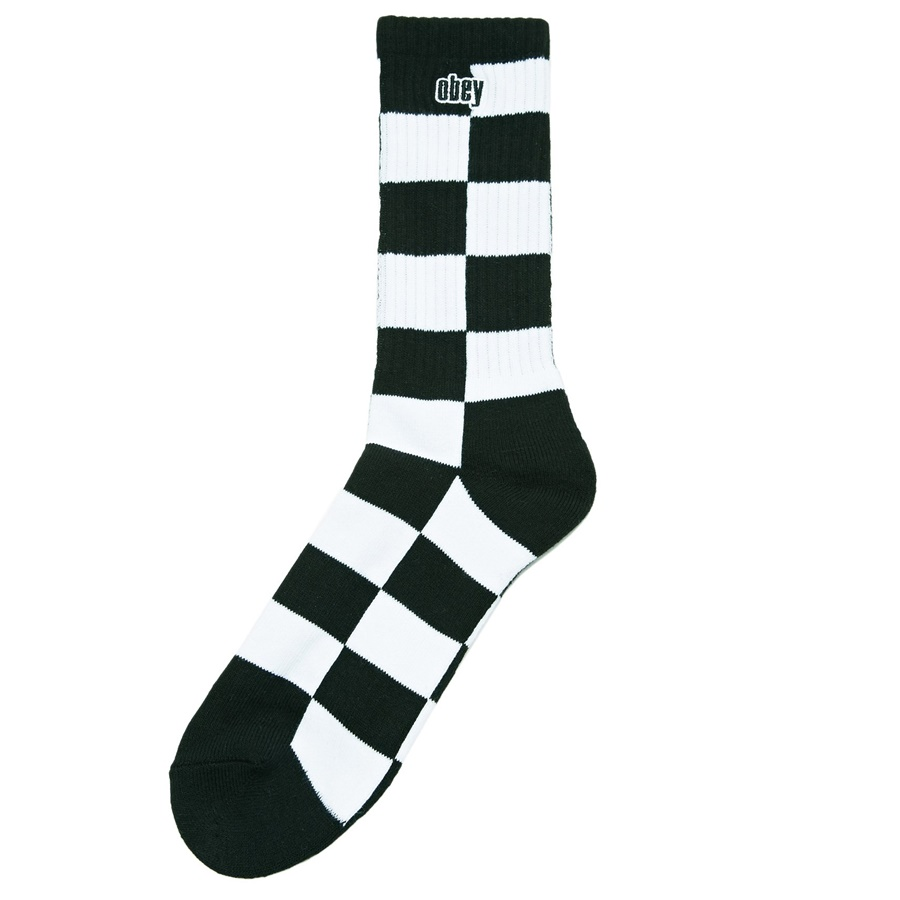 [오베이]CHECKERS SOCKS - BLACK MULTI 양말
