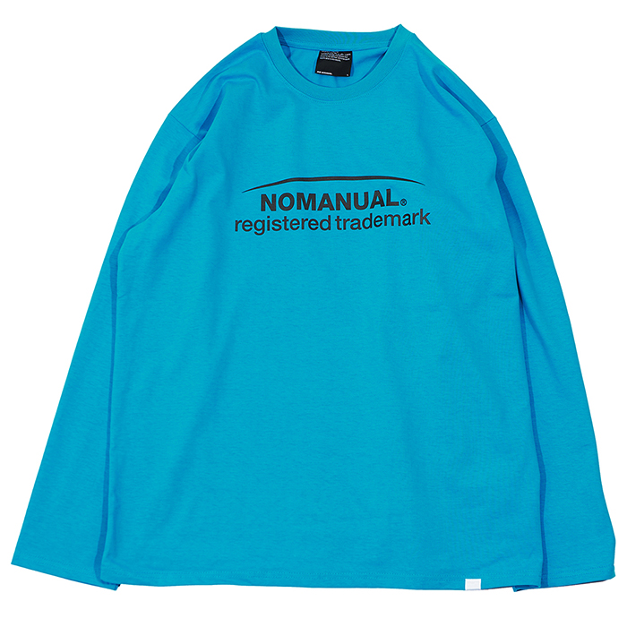 [노매뉴얼]BASKETBALL CLUB LONG SLEEVE TEE - CYAN