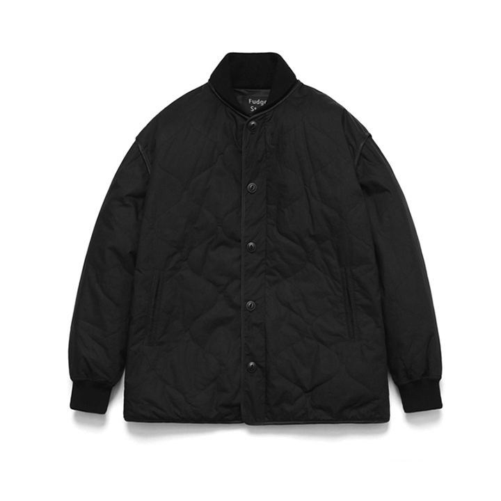 [라퍼지스토어]Quilting Stadium Jacket_Black