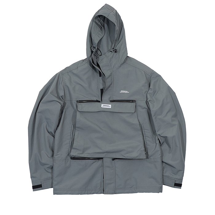 [노매뉴얼]NM CONVERTIBLE POCKET WIND BREAKER - GREY