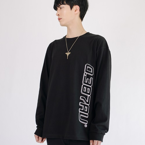 [0.387AU] Logo Long Sleeves Black