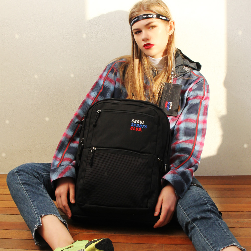 [피스메이커]SSC SQUARE BACKPACK (BLACK)