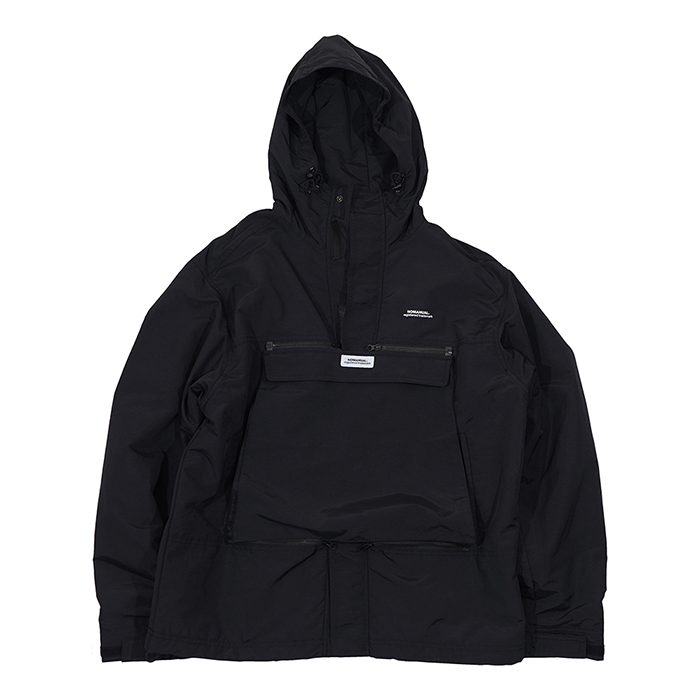 [노매뉴얼]NM CONVERTIBLE POCKET WIND BREAKER - BLACK