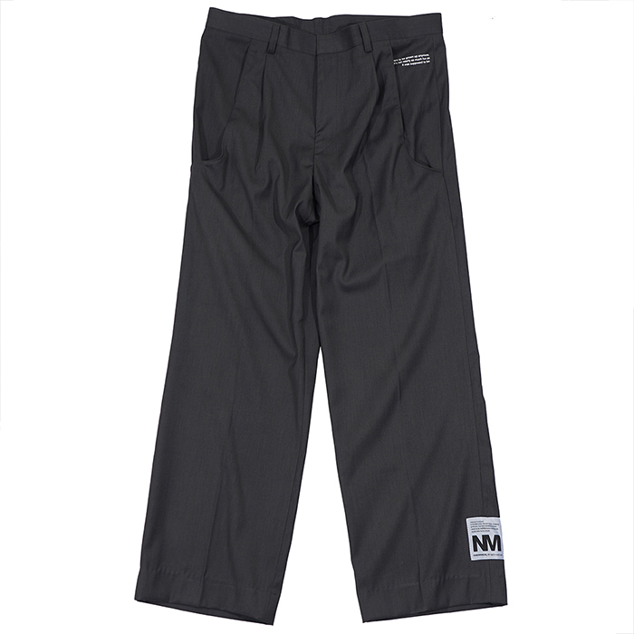 [노매뉴얼]UNUSUAL POCKET SCHOOL PANTS - GREY